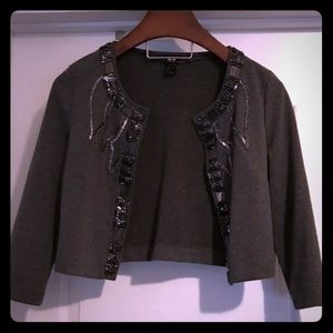 H&M Sequined Cropped Blazer
